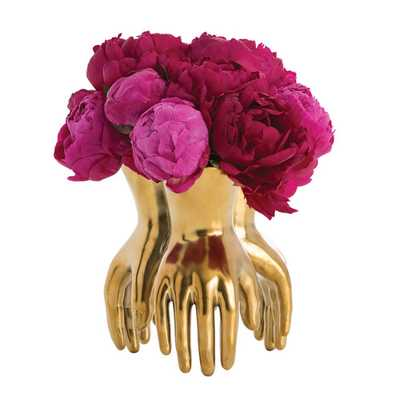 Arteriors Home Piedmont Gold Vase - Bellacor