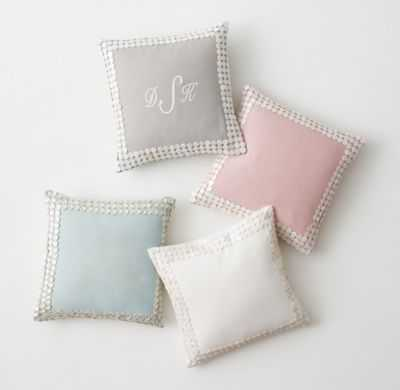 SHIMMERING SHELL BUTTON PILLOW COVER - RH Teen