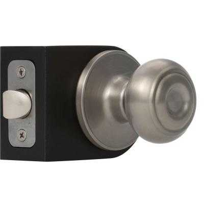 Hartford Satin Nickel Passage Knob - Home Depot