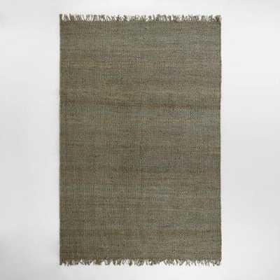 Blue-Gray Venora Flat-Woven Hemp Rug - World Market/Cost Plus