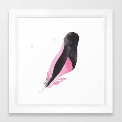 FRAMED ART PRINT, Feather II - Society6