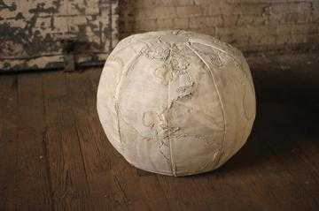RECYCLED CANVAS GLOBE POUF - Home Decorators