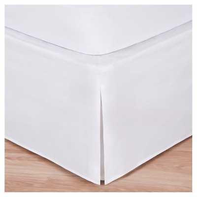 Magic Skirt Wrap-around Tailored Bed Skirt - White - King - Target