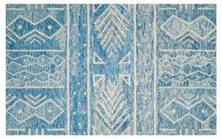 Ignacio Rug, Blue/Ivory - One Kings Lane