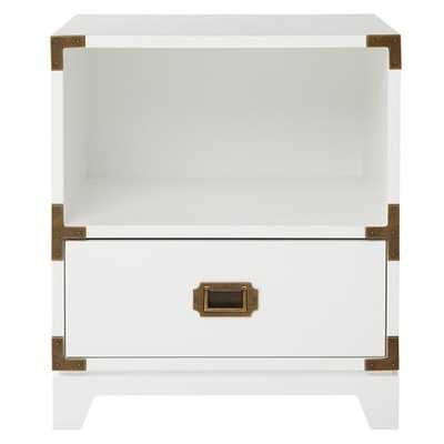 Campaign Nightstand (White) - Land of Nod