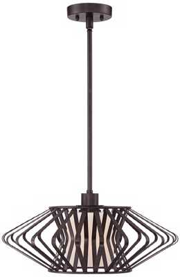 "Possini Euro Design Zodiac 20"" Wide Bronze Pendant Light - Lamps Plus"