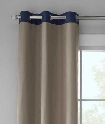 Oxford Banded Grommet Curtains Pair - prospectandvine.com
