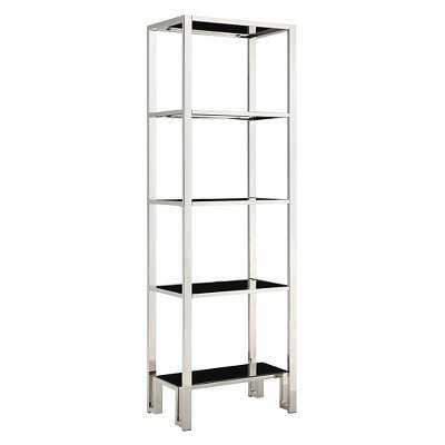Hurst 4-Shelf Bookcase - Chrome - Target
