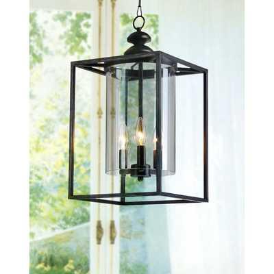 La Pedriza Antique Bronze 3-light Glass and Metal Chandelier - Overstock