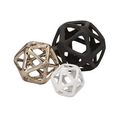 Nikki Chu Essex Ceramic Decorative Balls, Set of 3 - Houzz