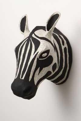 Savannah Story Bust, Zebra - Anthropologie