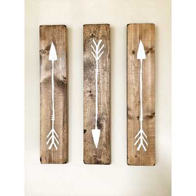 Rustic White Wooden Arrows - Etsy