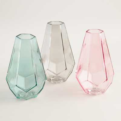 Teardrop Faceted Vases Set of 3 - World Market/Cost Plus