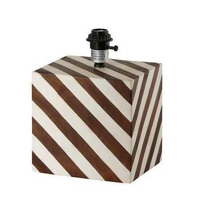 Modern Cube Stripe Table Lamp Base - Land of Nod