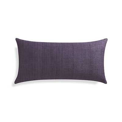 "Michaela Grape Purple 24""x12"" Pillow with Feather-Down Insert - Crate and Barrel"