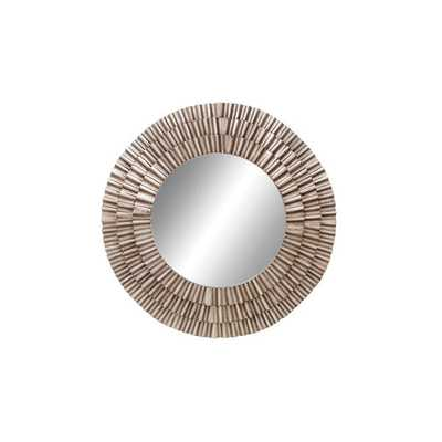 Contemporary Round Wall Mirror - Overstock