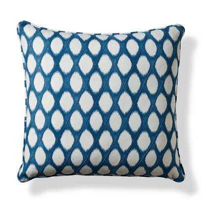 "Brissac Blue Decorative Pillow - 22"" sq. - feather/down insert - Frontgate"
