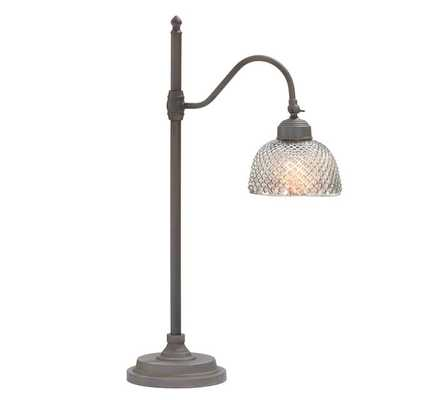 Chloe Hobnail Mercury Glass Task Table Lamp - Pottery Barn