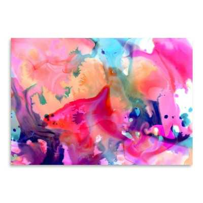 "Urban Road Nebula Poster Painting Print Wall Art- 18"" H x 24"" W x 1.75"" D- Framed - AllModern"