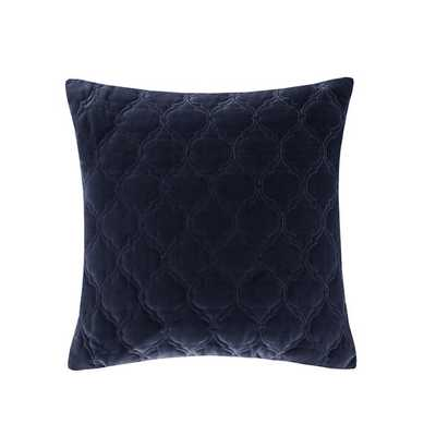 Velvet Ogee Quilted Cotton Throw Pillow , 20''x 20''-Insert inculded - AllModern