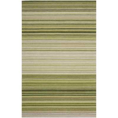 Hand-woven Marbella Green Wool Rug- 8' x 10' - Overstock