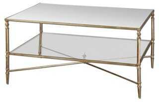 Abigail Glass-Shelf Coffee Table, Gold - One Kings Lane