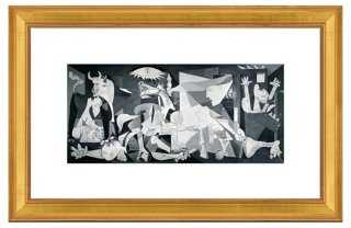 "Picasso, Guernica, 1937  18 1/2"" x 20 1/2"" framed - One Kings Lane"