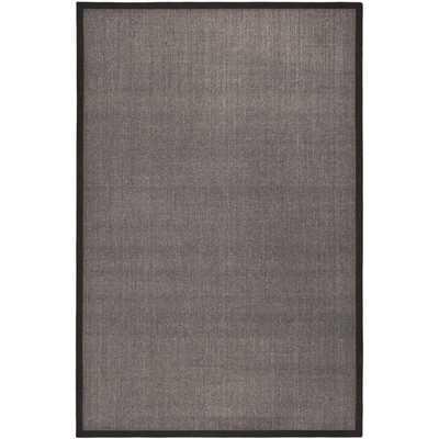Safavieh Hand-woven Natural Fiber Serenity Charcoal Grey Sisal Rug (6' x 9') - Overstock