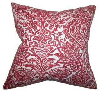 Shiloh 18x18 Pillow, Carmine - One Kings Lane