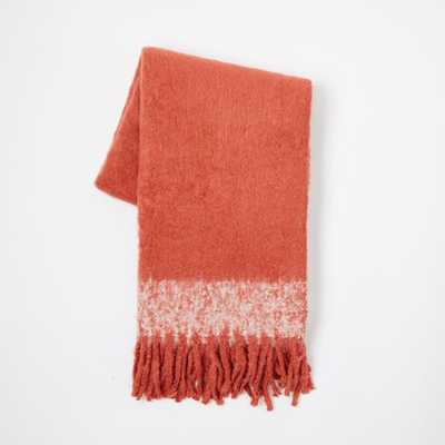 Cozy Texture Throw - Poppy - West Elm