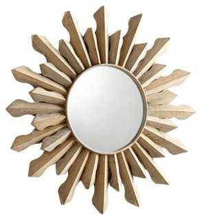 Sol Wall Mirror, Whitewash - One Kings Lane