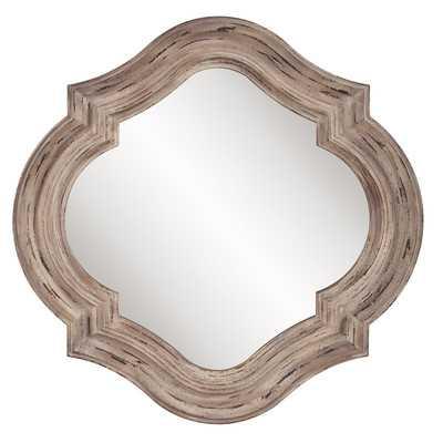 Aubrey Rustic Quatrefoil Wall Mirror - Wayfair