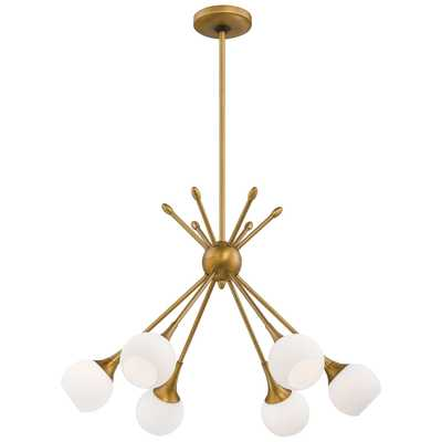 Pontil 6 Light Chandelier-Honey Gold - Wayfair
