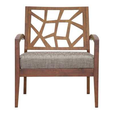 Baxton Studio Jennifer Twill Arm Chair - Wayfair