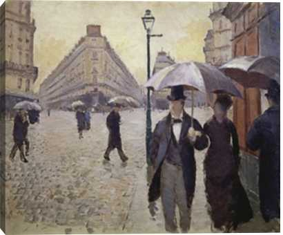 Paris Street, Rainy Weather Study by Gustave Caillebotte, oil on canvas- 40 x 34- Unframed - Photos.com by Getty Images