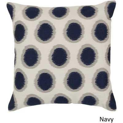 Decorative Balin Pillow Cover - Navy - 20x20 - No Insert - Overstock