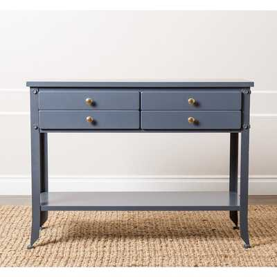 'Antoni' Antiqued Blue Console Sofa Table - Overstock