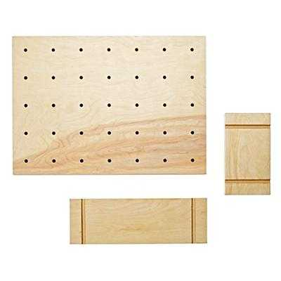 Pegboard and set of two shelves - Land of Nod