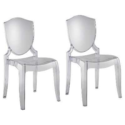 Odessa Ghost Chair - Clear (Set of 2) - Target