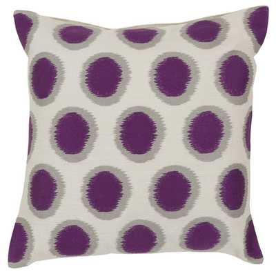 "Pretty Polka Dot Linen Throw Pillow - Papyrus / Navy - (18""SQ- Polyester fill insert - AllModern"