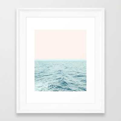 """FRAMED ART PRINT/ SCOOP WHITE MINI (10"""" X 12"""") - Society6"""