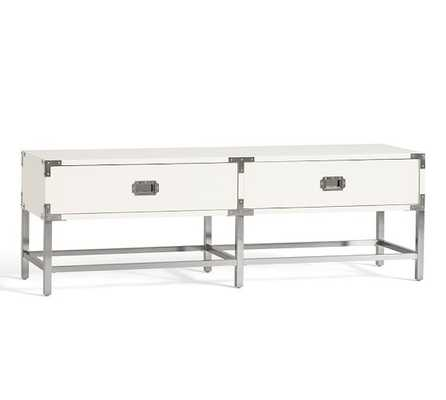 Leonna End-of-Bed Drawers - Polished white lacquer - Pottery Barn