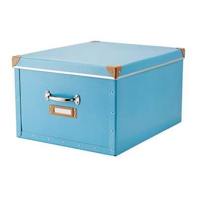 """FJÃ""""LLA Box with lid - blue - Ikea"""