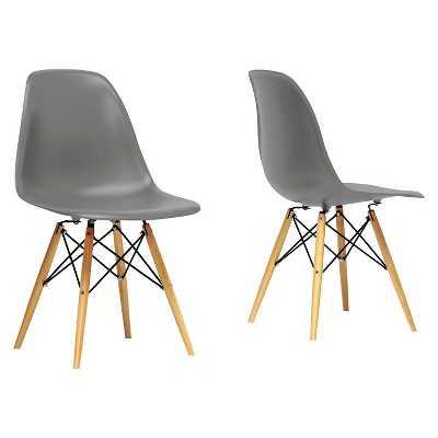 Baxton Studio Azzo Mid-Century Modern Shell Chair (Set of 2) - Target