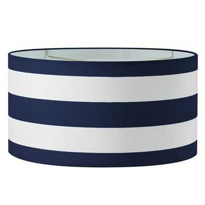 "16"" Euro Fitter Deck Stripe Drum Shade-Navy/White - Shades of Light"