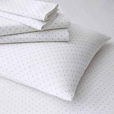 Polka Dot Sheet Set - Feather Gray-King - West Elm