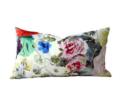 "Designers Guild Orangerie Rose lumbar pillow cover-2 sided 11""x 17""-No Insert - Etsy"