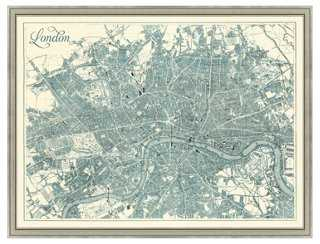 Map of London, Teal - One Kings Lane