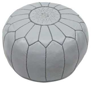 Moroccan Pouf, Slate - One Kings Lane