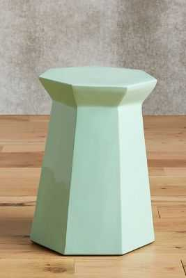 Lacquered Bead Side Table- Mint - Anthropologie